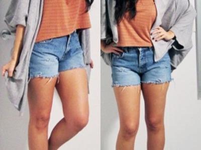 DIY Cut Off Denim Shorts