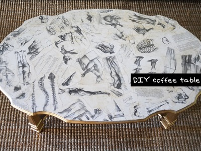 DIY Decoupage Coffee Table - Furniture Design Tutorial with Mr. Kate