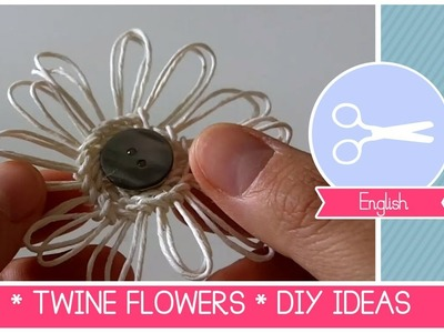 DIY FLOWER LOOM -TWINE FLOWERS Tutorial by Fantasvale (Super EASY!)