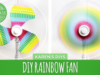 DIY Rainbow Fan - Fan Makeover 2 Ways - HGTV Handmade
