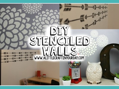 DIY Stenciled Wall | Easy DIY & Teen Room Decor
