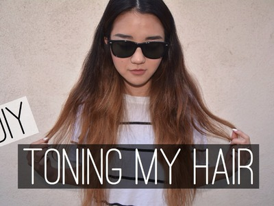 DIY: Toning My Hair | How to Remove Brass Tones