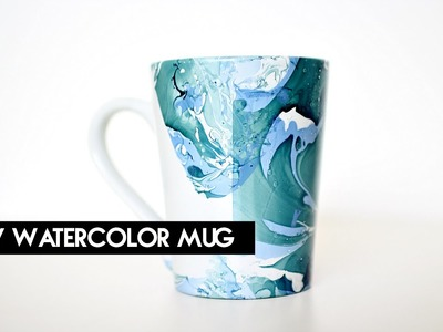 DIY Watercolor Mug | crystalcreateschic