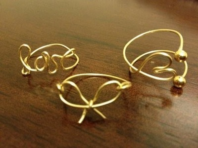 DIY Wire Wrap Rings (Midi and Regular)