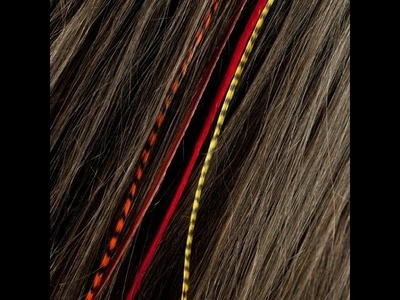 Easy Feather Hair Extensions | How to Put Fine Featherheads  in Your Hair