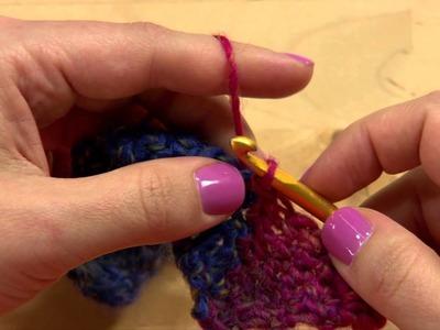 Entrelac Scarf Pattern -- Crochet Tutorial