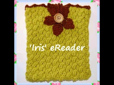 EReader Cosy Holder Bag Case to fit IPAD Cable Lace Edging Knitting Pattern