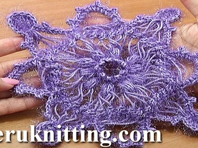 Hairpin Crochet Snowflake Ornament Tutorial 7 Part 1 of 2 Hairpin Square Motif