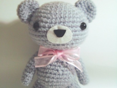 How to crochet a kawaii bear amigurumi tutorial [Part 1.2]