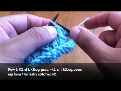 How to Knit the Little Fountain Lace Stitch
