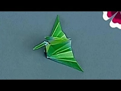 How to make a Paper Crane II (Tutorial) - Paper Friends 12 | Origami for Kids