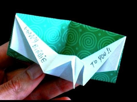 How to make an Origami Birthday pop-up card.