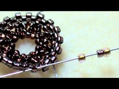 How to Seed Bead Around a Crystal Rivoli Stone Using Circular Peyote Stitch