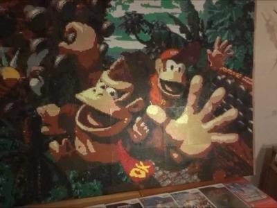 HUGE Nintendo perler beads project | Donkey Kong 46000+ beads used!