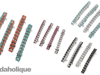 Instructions for Making the Rhinestone Barrette Set Kit