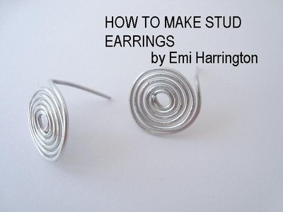 JEWELRY MAKING, How to make stud earrings.