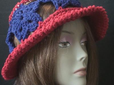 Left Hand Crochet - Crochet Liberty Hat - Left Hand Crochet Geek