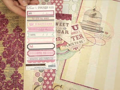My Mind's Eye - Lost and Found 2 - Blush Scrapbook Collection