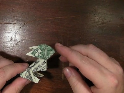 Origami Rabbit with a US dollar bill