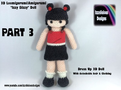 Rainbow Loom Loomigurumi Izzy Bizzy Dress Up Doll Part 3 - hook only (loomless)
