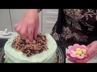 Sassiwax crafts (bird nest cake)