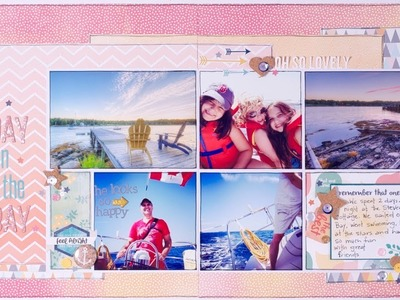 Scrapbooking Process: A Day on the Bay (double layout)