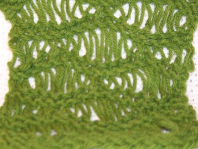 Seafoam Stitch on a Loom