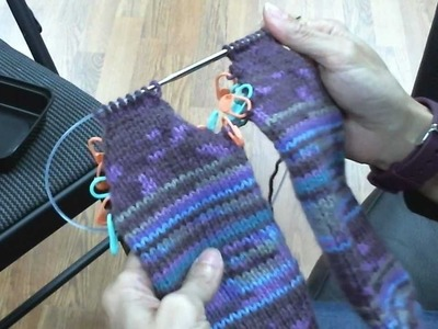 Toe-Up Socks on Circular Knitting Needles - Turning the Heel Continued (Part 4 of 5)