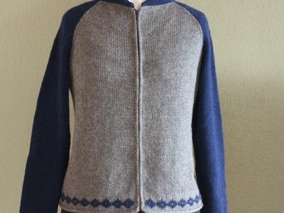 Woman's Zippered Letterman's Jacket, Parts 1-9