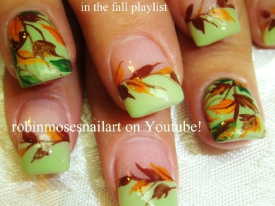 2 Nail Art Tutorials | DIY Easy Fall Leaves Design