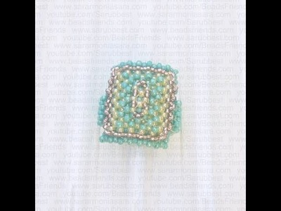 BeadsFriends: Right Angle Weave tutorial - How to make a bead ring (RAW) | Beading Tutorial