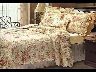 Chic Shabby Romantic Rose Bedding Quilt Set Queen ; shabby chic comforter