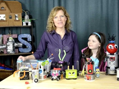 DIY: Building Recycled Robots with your Kids!