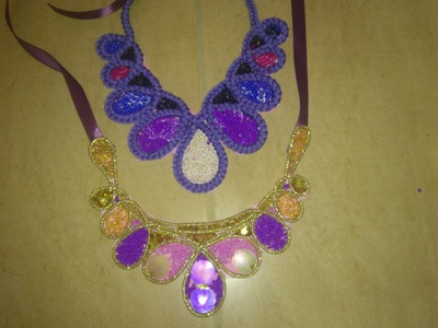 DIY: Colorful Maxi Collar