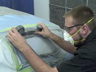 DIY - How-To Block Sand Primer To Get Ready For Paint - Auto Refinish Training Video in HD