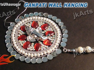 DIY How to make Ganpati car and wall hanging out of waste DVDs - JK Arts 527