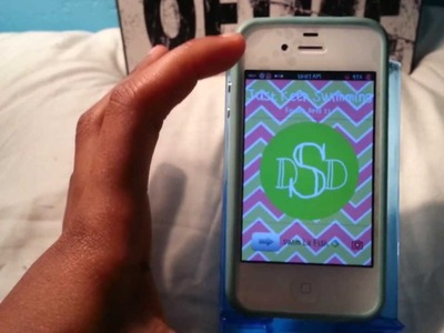 DIY: Make A Monogram For Your Phone