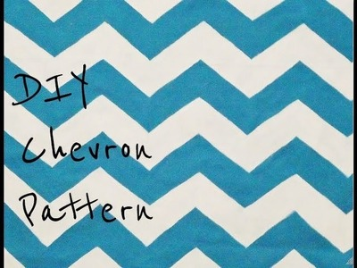 DIY Paint A Chevron Pattern From Scratch