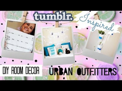 DIY Room Decor 2015 | Urban Outfitters & Tumblr Inspired | DIY Decor de quarto