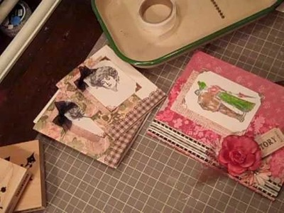Easy Stationary card holder using one 12x12 paper Part 2