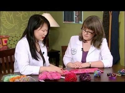 Embellished Yarns, from Knitting Daily TV Episode 906, Yarn Spotlight