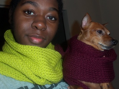 FINALLY DONE! Super soft, thick, long Knit loom scarfs
