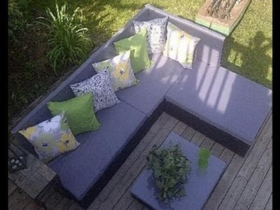 How to build a pallet sofa for the garden