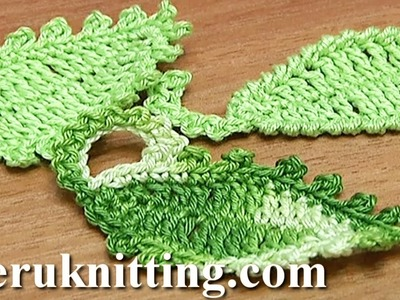 How To Crochet Leaf Oval Shape Tutorial 12