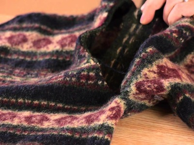 How to Cut Up a Felted Sweater : Felt, Wool, & Other Fabric Care