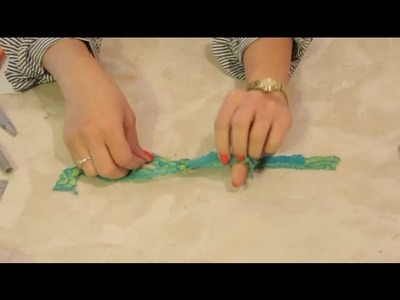 How to Do a Square Knot With Craft Lace : DIY Crafts