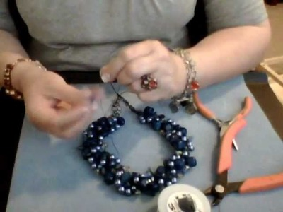 How to Make a Wire Crochet Necklace Part 8
