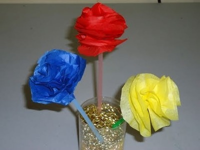 How to make an easy tissue paper carnation - EP