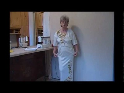 How to Make Carolyn's Couture for Housework-Part 4-Finishing Appliqued Top