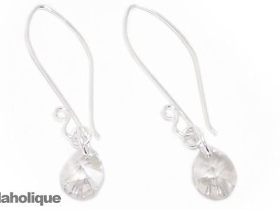 How to Make Easy SWAROVSKI ELEMENTS Crystal Earrings